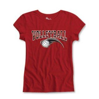 Sports Katz Girls Zebra Short Sleeve Semi Sheer Fit Tee Volleyball: Clothing