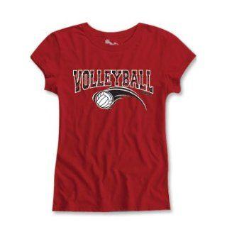 Sports Katz Girls Zebra Short Sleeve Semi Sheer Fit Tee Volleyball: Clothing