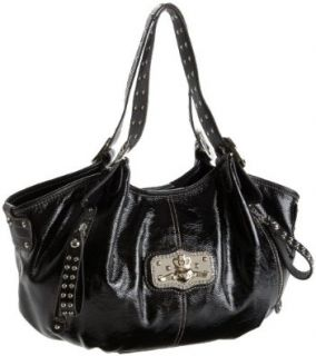 KATHY Van Zeeland Disco Daisy A Line Tote,Black,one size: Shoes