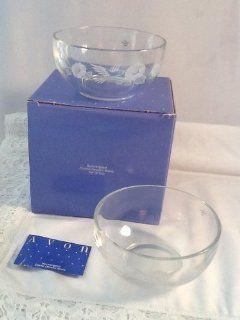 Avon Hummingbird 24% Lead Crystal Dessert Bowls   Set of 2 Kitchen & Dining