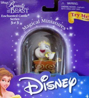 Disney BEAUTY & THE BEAST Magical Miniatures MRS POTTS & CHIP Figure ENCHANTED CASTLE Series 3 of 4 2000): Toys & Games