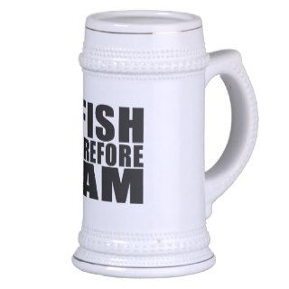 Funny Fishing Quotes Jokes I Fish Therefore I am Coffee Mugs