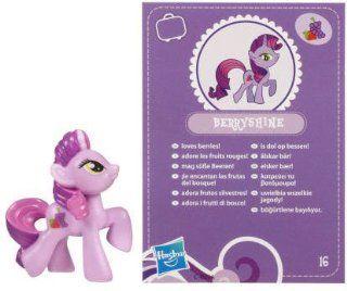 My Little Pony Friendship is Magic 2 Inch PVC Figure Berryshine Purple Card Toys & Games