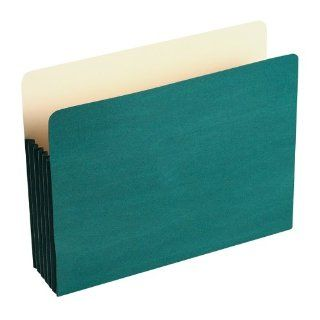 "Wilson Jones Colorlife Recycled (50%) Expanding File Pockets, Letter Size, 5 1/4"" Expansion, Green, 10/box, WCC66G : Expanding File Jackets And Pockets : Office Products"