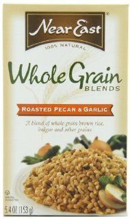 Near East Roasted Pecan & Garlic Creative Grains Mix, 5.4 Ounce Boxes (Pack of 12) : Near East Whole Grain Blends Rice Roasted Pecan And Garlic : Grocery & Gourmet Food