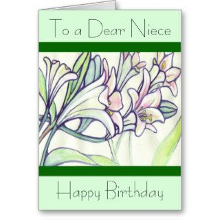 A Happy Birthday Niece Card Flowers