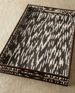 Porcupine Quill Tray   Janice Minor Export