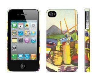 Iphone 4 / 4s Case Landscape Near Hammamet, August Macke, 1914 Cell Phone Cover: Cell Phones & Accessories