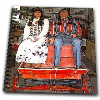 db_57388_1 Jos Fauxtographee Realistic   A Man and Woman Native American Mannequins in a Wagon in a Store in Utah Near Kanab   Drawing Book   Drawing Book 8 x 8 inch
