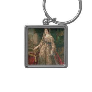 Queen Isabella II  1843 Key Chain