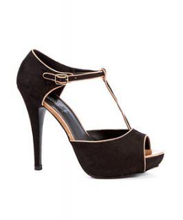 T Bar High Heeled Sandal