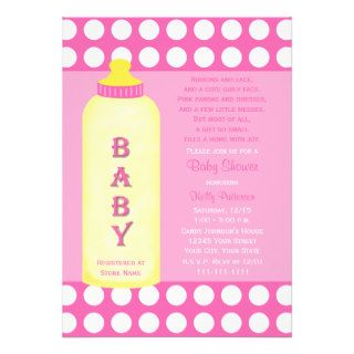 Baby Shower Poem Invitation    Baby Girl Personalized Invites