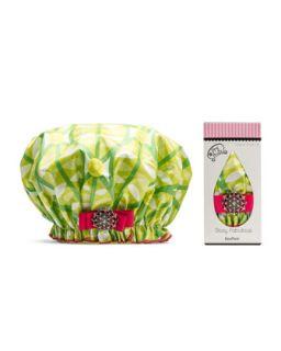 Designer Shower Cap, Squeeze OLime   Dry Divas