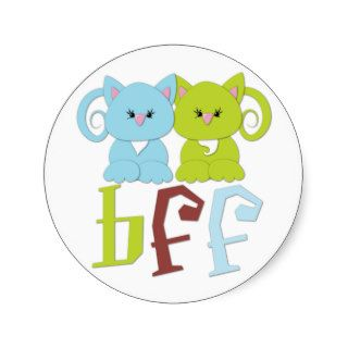 BFF Best Friends Forever Cats Sticker
