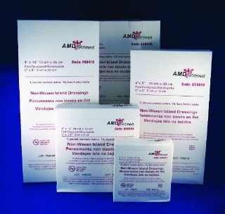 Non Adherent Island Dressing, Isl Drs 4X4 Non Adh Strl, (1 CASE, 150 EACH): Health & Personal Care