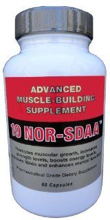 19 Nor SDAA    Advanced Muscle Building Supplement    60 Capsules: Health & Personal Care