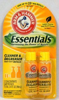 Arm & Hammer Essentials Cleaner & Degreaser Heavy Duty Refills 1.2 Oz Bottles 2 in pack (Pack of 6) 14.4 Oz Total   Multipurpose Cleaners