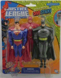 Justice League Unlimited * Deep Sea Dive Sticks / Dive Heroes * Batman / Superman / Flash: Toys & Games