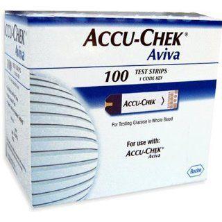 Accu Chek Aviva Plus Blood Glucose Test Strips, 100 Count Health & Personal Care