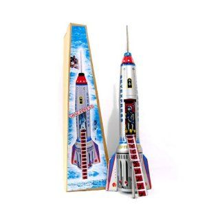 Sky Express Tin Spaceship Rocket: Toys & Games
