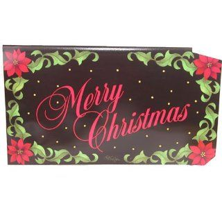 MailWraps Merry Christmas Poinsettia Mailbox Cover : Patio, Lawn & Garden