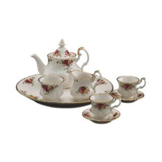 Royal Albert Old Country Roses Le Petite 9 Piece Tea Set Tea Services Kitchen & Dining