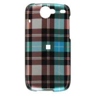 Plaid Style Blue Checkered Checkbox Design Snap On Cover Hard Case Cell Phone Protector for Google Nexus One: Cell Phones & Accessories