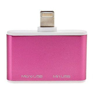 Lightning Male to Micro and Mini USB Adapter for iPhone 5, iPad mini and Others: Cell Phones & Accessories