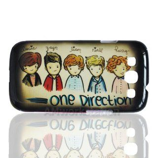 Super Star Cartoon One Direction 1d Pattern Hard Case Protective Cover for Samsung Galaxy S3 S 3 III I9300, I747 (Verizon, Sprint, T mobile, At&t): Cell Phones & Accessories