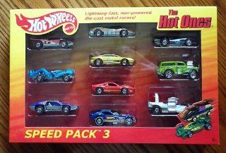Hot Wheels 2012 The Hot Ones Speed Pack 3 All Chase Cars Steam Roller / Zombot / Side Kick / Aeroflash / Lotus Esprit / Ferrari GTO / '77 Plymouth Arrow / Second Wind / Morris Wagon / Bubble Gunner Toys & Games