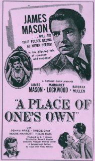A Place of One's Own [VHS]: Margaret Lockwood, James Mason, Barbara Mullen, Dennis Price, Helen Haye, Michael Shepley, Dulcie Gray, Moore Marriott, O.B. Clarence, Helen Goss, Edie Martin, Gus McNaughton, Stephen Dade, Bernard Knowles, A. Charles Knott,