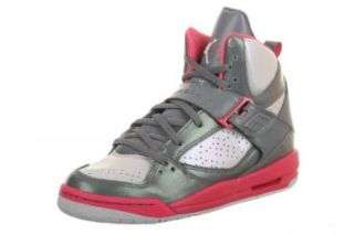 NIKE Jordan Flight 45 High Kids' Basketball Shoes, Black/Vivid Pink: Shoes