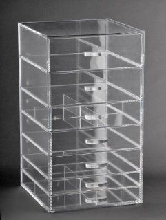 Makeup Organizer With 7 Drawers Clear Acrylic (A7)   Cosmetics Organizers