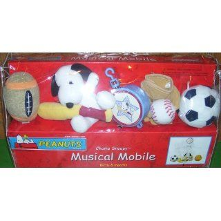 Bedtime Originals Champ Snoopy Musical Mobile, Blue : Nursery Mobiles : Baby