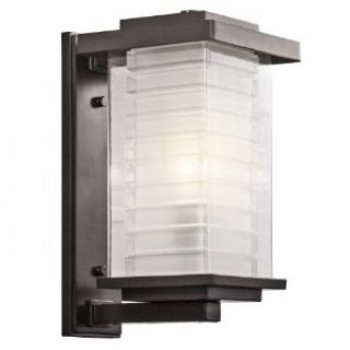 49366AZ Ascari 1 Light 17 Inch Outdoor Wall Mount, Architectural Bronze Finish with Clear Glass Outside and Frosted Glass Inside   Wall Porch Lights