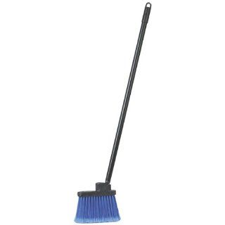 "Carlisle 3685914 Duo Sweep Metal Threaded Handle Flagged Lobby Broom, Polypropylene Bristles, 4"" Trim x 7 1/2"" Width Bristle, 30"" Handle, 36"" Overall Length, Blue Cleaning Brushes Industrial & Scientific"