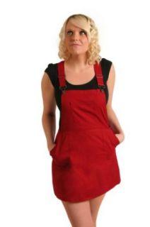 Womens   Lightweight summer overall Dress   Red: Clothing
