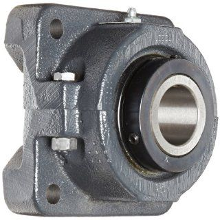 "Sealmaster RFB 108C Heavy Duty Flange Unit, 4 Bolt, Regreasable, Contact Seals, Double Concentric Clamp Collars, Cast Iron Housing, 1 1/2"" Bore, 5 3/8"" Overall Length, 4 1/8"" Bolt Hole Spacing Width, 1 3/16"" Flange Height: Flange Block"