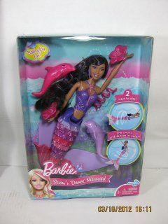 Barbie In A Mermaid Tale Swim 'N Dance Mermaid (Brunette): Toys & Games