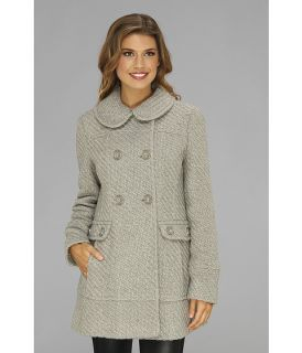 Jessica Simpson Double Breasted Asymmetrical Button Closure Coat Grey