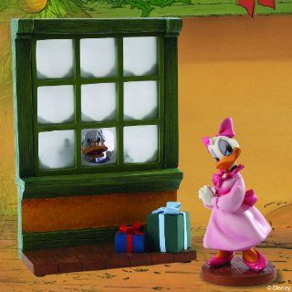 Daisy Duck and Scrooge McDuck with Window: Reflections of Christmas Past   Collectible Figurines