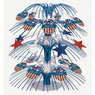 Patriotic Cascade Centerpiece (1 per package): Toys & Games