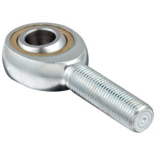 "Sealmaster TM 7 Rod End Bearing, Three Piece, Commercial, Non Relubricatable, Male Shank, Right Hand Thread, 7/16"" 20 Shank Thread Size, 7/16"" Bore, �7 degrees Misalignment Angle, 9/16"" Length Through Bore, 1 1/8"" Overall Head Width, 1."