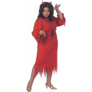 Flame Dancer Costume   Plus Size   Dress Size 16 20: Clothing