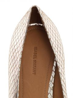 Metallic leather point toe flats  Isabel Marant  MATCHESFASH