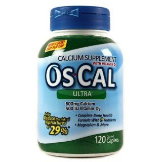 Oscal Ultra Calcium 600 mg Plus Tabs, 120 ct: Health & Personal Care