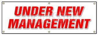 "72"" UNDER NEW MANAGEMENT BANNER SIGN brand owner owners management signs  Yard Signs  Patio, Lawn & Garden"