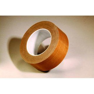 "3M 5453 Silicone PTFE Glass Cloth Heat Sealing Adhesive Tape, 400 Degree F Performance Temperature, 8.3 mil Thick, 36 yds Length x 1"" Width, Brown (Case of 9) Adhesive Tapes Industrial & Scientific"