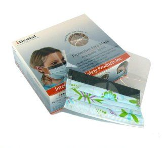 Clinical Use Protective Face Mask with Anti Fog Shield and Safety Buckle in Flowers Style, Come in 25 Pieces per Order: Health & Personal Care