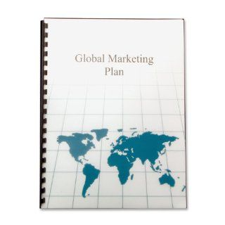 GBC Designer Poly Presentation Covers, World Map Design, Unpunched, 8.5 x 11  Inches, Frost, 25 Covers per Pack (25825) : Business Report Covers : Office Products